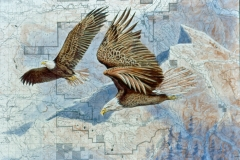 107 - Eagles over Mt Pilchuck SOLD
