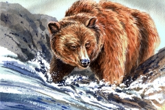 219 - Grizzly Bear Fishing SOLD