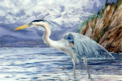 118 - Double Bluff Heron Commission SOLD