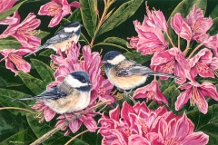 123 - Rhody Trio Black-capped Chickadee SOLD